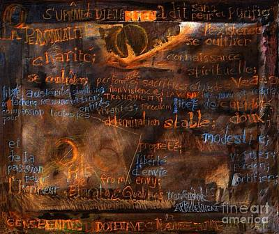 These Transcendental Qualities Poster by Contemporary Luxury Fine Art