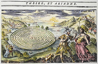 Theseus & Ariadne Poster by Granger