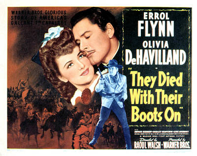 They Died With Their Boots On, Olivia Poster by Everett