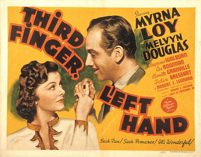 Third Finger, Left Hand, Myrna Loy Poster by Everett