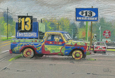 Thirteen Dollar Emissions Poster by Donald Maier