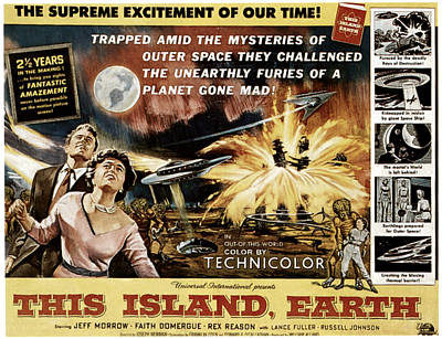 This Island, Earth, From Left Rex Poster by Everett