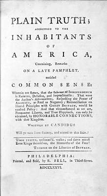 Thomas Paines 1737-1809 Radical Poster by Everett