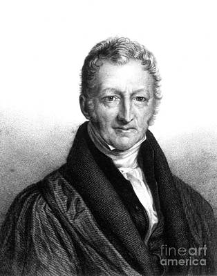 Thomas Robert Malthus, English Scholar Poster by Science Source