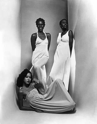 Three Models Sport Maxi-dresses Poster