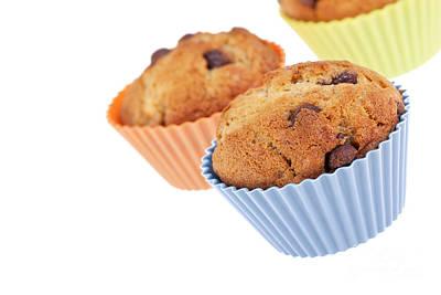 Three Muffins Poster by Jane Rix
