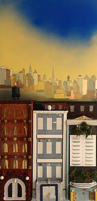 Three Nice Small Buildings Poster by Robert Handler