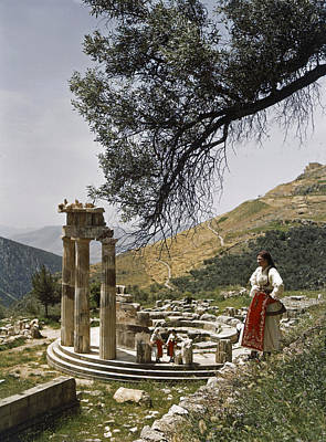 Three Restored Doric Columns Stand Poster by B. Anthony Stewart
