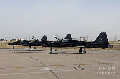 Three T-38s Sit At The End Poster by HIGH-G Productions
