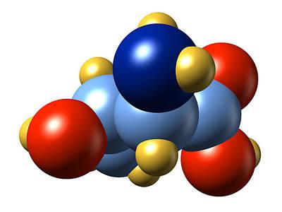 Threonine, Molecular Model Poster by Dr Mark J. Winter