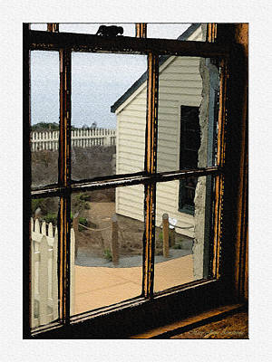 Poster featuring the digital art Through The Window by MaryJane Armstrong