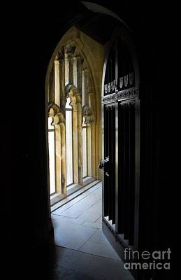 Poster featuring the photograph Thru The Chapel Door by Cindy Manero