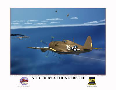 Thunder Struck Poster by Jerry Taliaferro