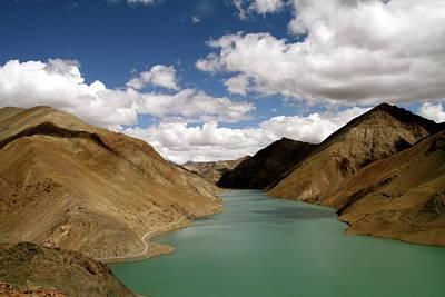 Tibetan Lake Poster by James Mancini Heath