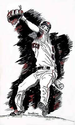 Poster featuring the painting Tim Lincecum by Terry Banderas
