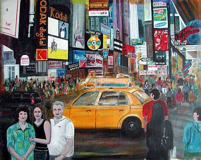 Poster featuring the painting Times Square by Anna Ruzsan