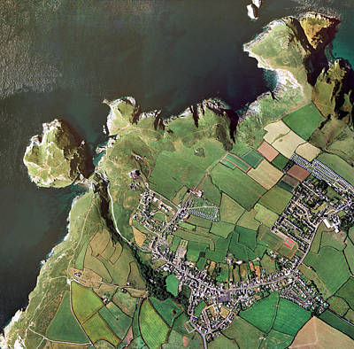 Tintagel Head Poster by Getmapping Plc