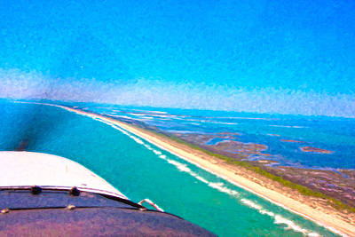 Tiny Airplane Big View II Poster by Betsy Knapp