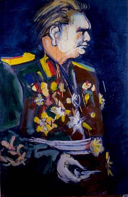 Poster featuring the painting Tito by Les Leffingwell