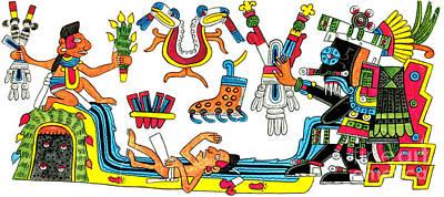 Tlaloc, Aztec God Of Rain, 15th Century Poster