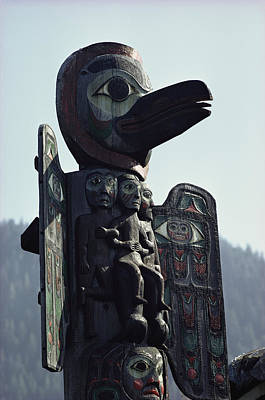 Tlingit Indian Totem Pole Poster by George F. Mobley