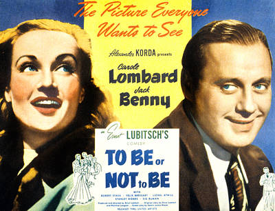 To Be Or Not To Be, Carole Lombard Poster by Everett
