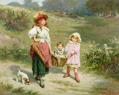 To Market To Buy A Fat Pig Poster by Edwin Thomas Roberts