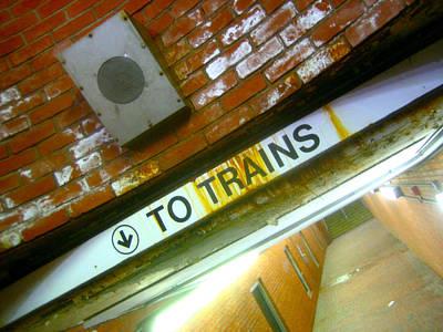 To Trains Poster by Jon Berry OsoPorto