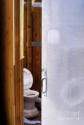 Toilet In Public Restroom Poster