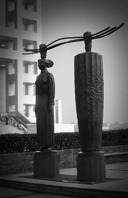 Tokyo City Sculptures Poster by Naxart Studio