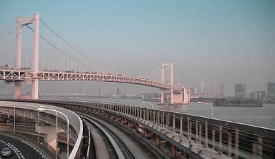 Tokyo Train Ride 4 Poster by Naxart Studio