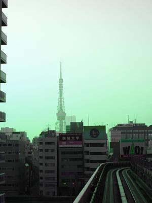 Tokyo Train Ride 7 Poster by Naxart Studio