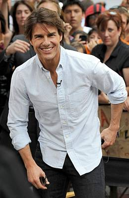 Tom Cruise At Talk Show Appearance Poster