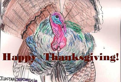 Tom Turkey Happy Thanksgiving  Poster by Jamey Balester