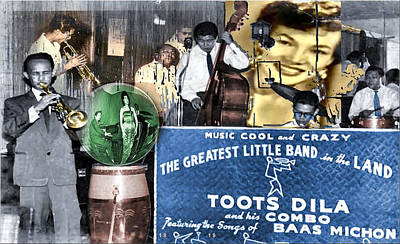 Toots Dila And Band Poster by Glenn  Bautista