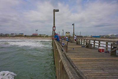 Topsail Island Sc Pier Poster