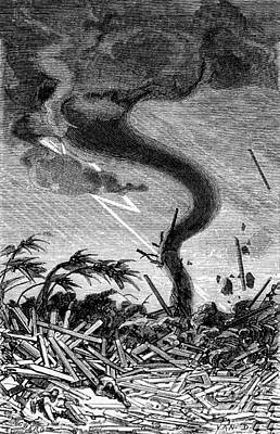 Tornado, 19th Century Poster by Science Source