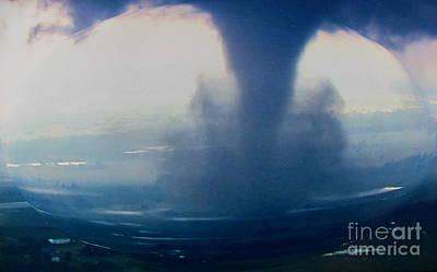 Tornado Destruction In 3d Poster