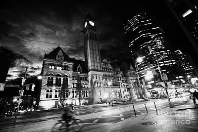 Toronto Old City Hall Building Now Court House For The Ontario Court Of Justice At Night Poster