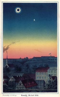 Total Solar Eclipse, 1851 Artwork Poster by Detlev Van Ravenswaay