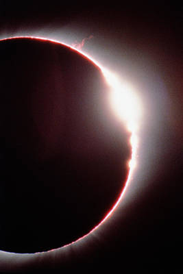 Total Solar Eclipse, Showing A Solar Flare Poster