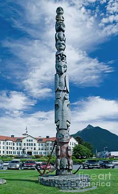 Totem Pole Sitka Alaska Poster by Jim Chamberlain
