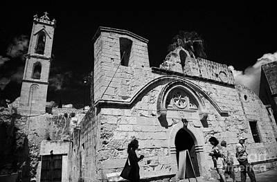 Tourists At Ayia Napa Monastery Republic Of Cyprus Poster by Joe Fox