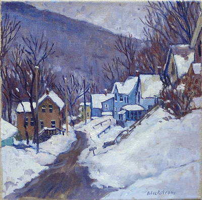 Toward Vermont Winter Poster by Thor Wickstrom