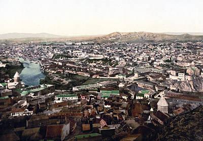 Towards The Megectski Castle - Tbilisi Georgia Poster