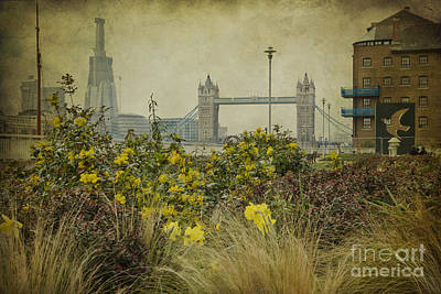 Poster featuring the photograph Tower Bridge In Springtime. by Clare Bambers
