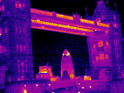 Tower Bridge, London, Uk, Thermogram Poster