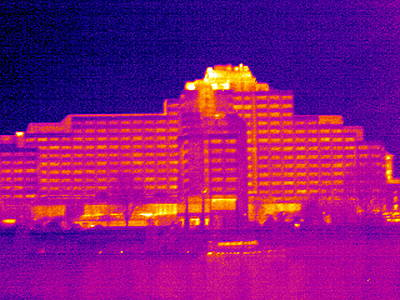 Tower Hotel, London, Uk, Thermogram Poster