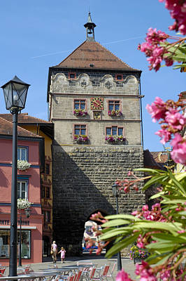 Tower In Old Town Rottweil Germany Poster