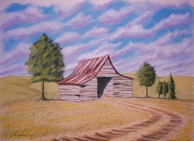 Poster featuring the pastel Tractor Shed by Stacy C Bottoms